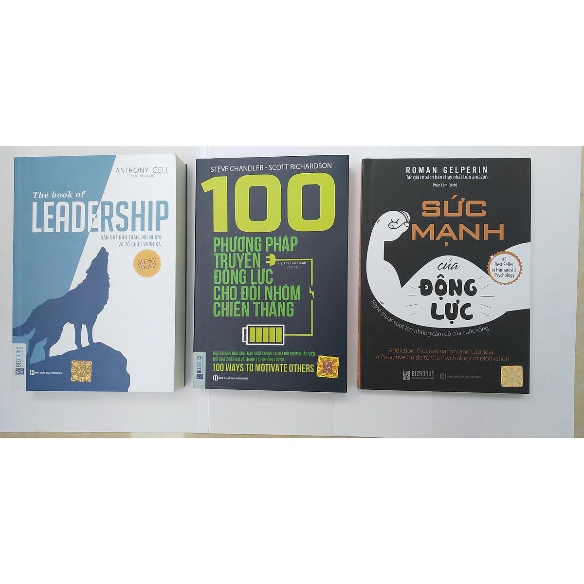 Mua combo 3 cuốn sách: +leadership dẫn dắt bản thân,đội nhóm và tổ chức vươn xa + 100 phương pháp truyền động lực cho đội nhóm chiến thắng + Sức mạnh của động lực tặng bookmark kim loại
