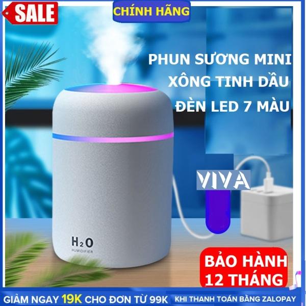 Máy xông tinh dầu, máy phun sương mini, có đèn led 7 màu sạc USB có thể làm đèn ngủ, máy xông tinh dầu phòng ngủ, máy xông tinh dầu trên xe hơi dung tích 300ml- VIVA