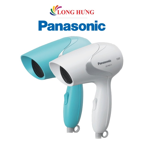 Máy sấy tóc Panasonic EH-ND11 - Hàng chính hãng - Công suất 1000W sấy khô nhanh, điều chỉnh luồng gió phù hợp với hai mức nhiệt, tự động ngắt khi quá nhiệ