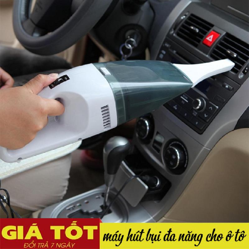 Máy hút bụi xe ô tô cầm tay 12V (Đen phối trắng)