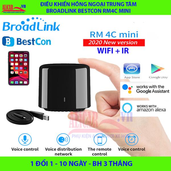Giá Bản Q.Tế - Điều Khiển Hồng Ngoại Trung tâm Broadlink BestCon RM4C mini (Google Home, Apple Home, Alexa) RM4