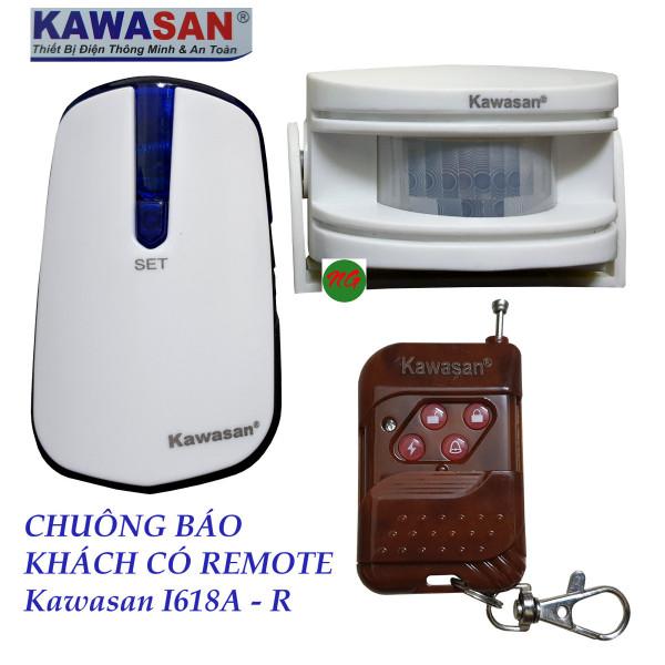 Chuông báo khách báo trộm cảm biến hồng ngoại có Remote điều khiển chuông Kawasan I618A -R  -  Có 2 phân loại sản phẩm