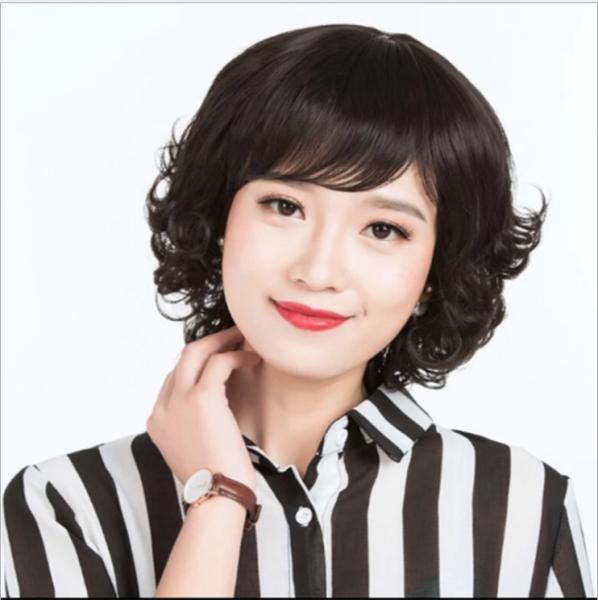 [TẶNG LƯỚI] Tóc giả nữ trung niên nguyên đầu Hàn Quốc cao cấp - TG48