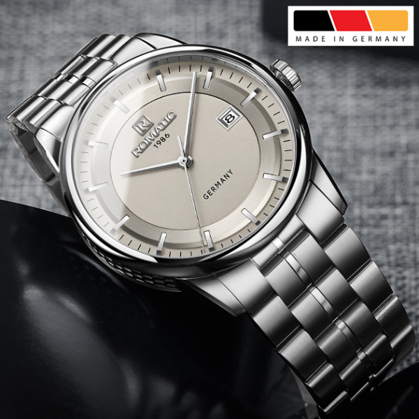 Đồng hồ Nam ROMATIC 1986 Máy GERMANY - Khóa Bướm - Dây Thép Đúc Đặc Cao Cấp bán chạy