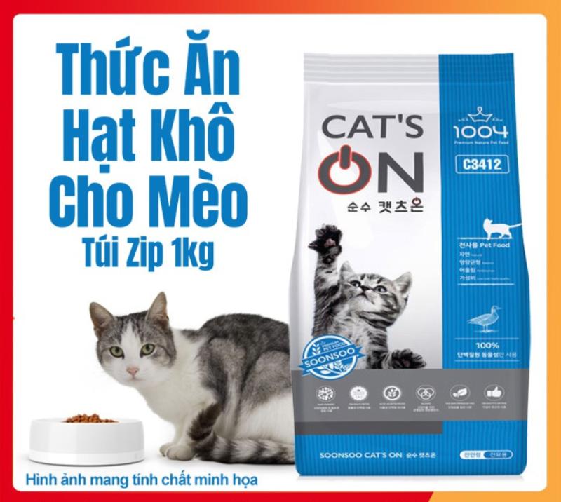 Thức Ăn Cho Mèo Hạt Khô Cats On Hàn Quốc - Túi Zip 1kg