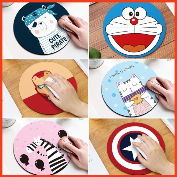 Bảng giá Miếng lót chuột tròn siêu nhạy nhiều họa tiết siêu cute giá cực rẻ Phong Vũ