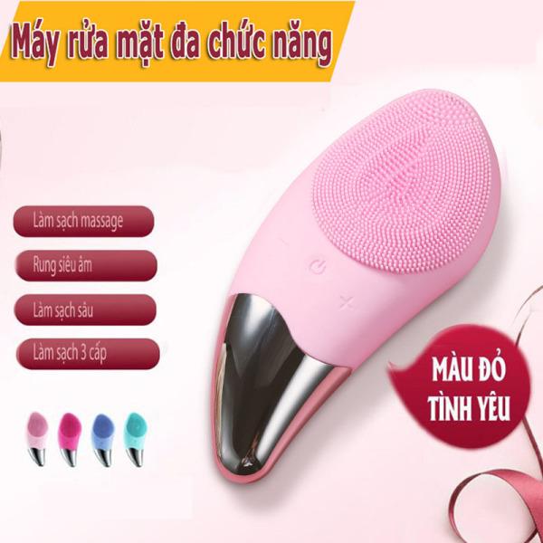 Máy rửa mặt SONIC mát xa mặt ion, MÁY SILICON máy  massage mặt Làm Sạch Sâu cho da khỏe đẹp