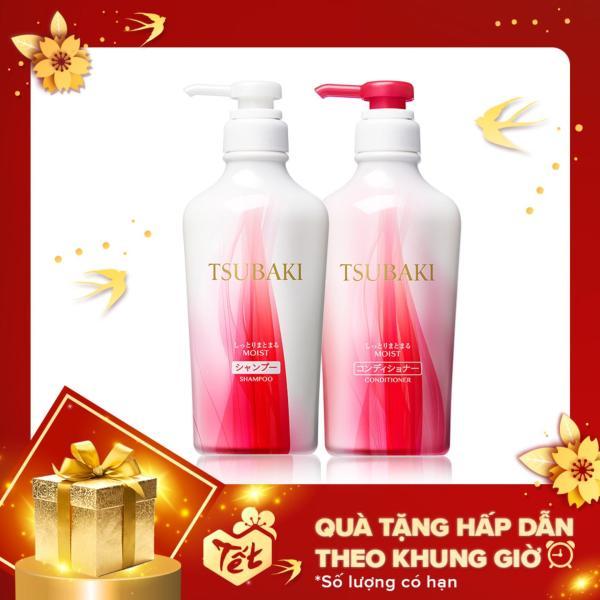 Bộ đôi dầu gội và dầu xả dưỡng ẩm và giữ nếp Tsubaki Moist 450ml/chai tốt nhất