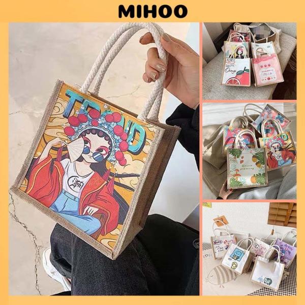 Túi cói mini đi biển nữ đẹp đi chơi thời trang dễ thương cute cá tính phong cách Vintage MIHOO TV44