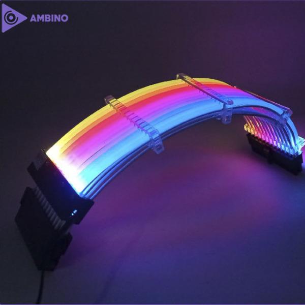 Bảng giá Dây nối dài 24Pin/8Pin/6Pin AMBINO Rainpow LED A-RGB Phong Vũ