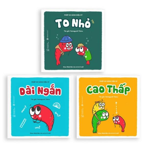 Mua Sách Ehon - Combo 3 cuốn Phép so sánh diệu kỳ - Dành cho trẻ từ 2 tuổi.