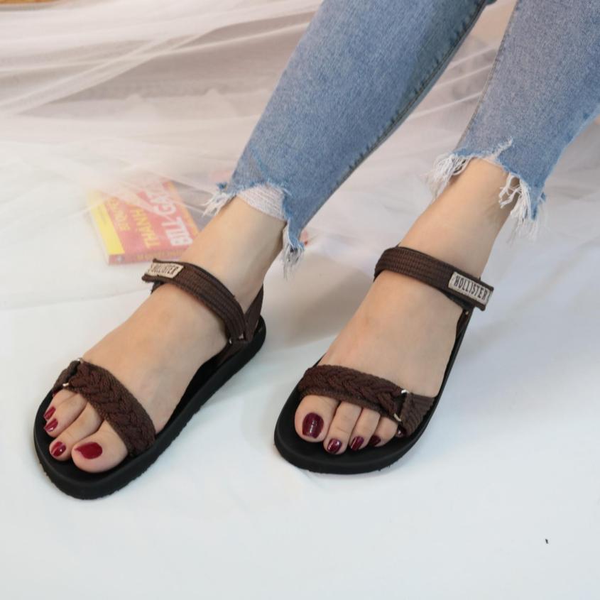 Sandal nữ GIAVY-ST K109 NÂU-sandal học sinh, sinh viên giá rẻ