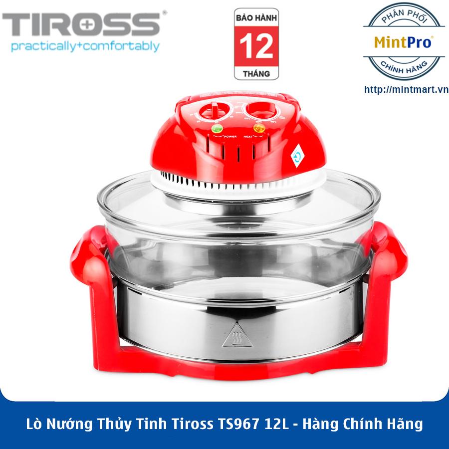 Lò Nướng Thủy Tinh Halogen Tiross TS967 12L - Hàng Chính Hãng
