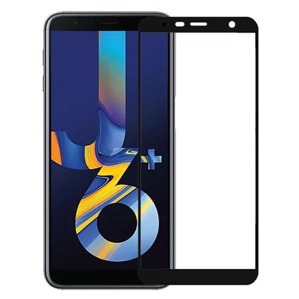Kính cường lực Samsung J6+ / J6 Plus Đen (Full Màn, Full Keo)