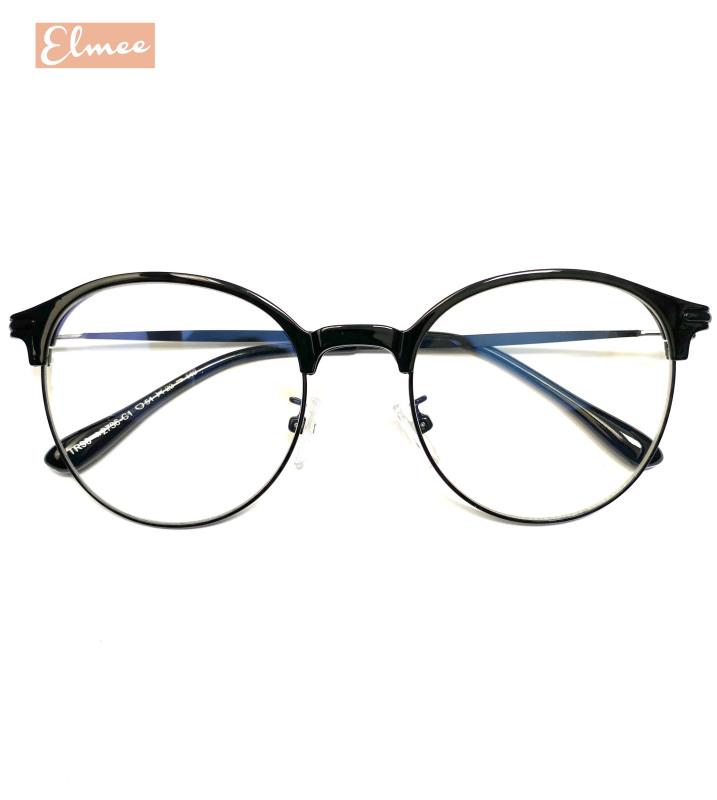 Giá bán Gọng kính cận mắt tròn nửa viền kim loại siêu bền Elmee - có cắt mắt cận