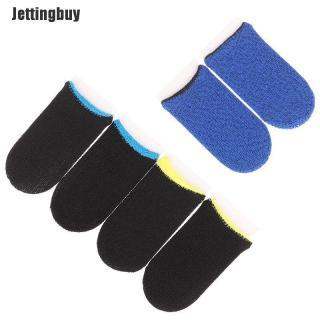 Jettingbuy 1 Đôi Găng Tay Chống Mồ Hôi Chơi Game Di Động Bao Ngón Tay Cái Màn Hình Cảm Ứng 4