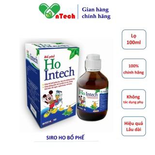 Siro bổ phế HO INTECH Giúp bổ phế giảm ho tăng cường sức khỏe đường hô hấp lọ 100ml thumbnail