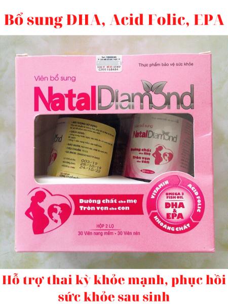 Thực phẩm chức năng NatalDiamond - Thực phẩm bổ sung DHA, EPA, Omega 3, Acid Folic, Vitamin, khoáng chất