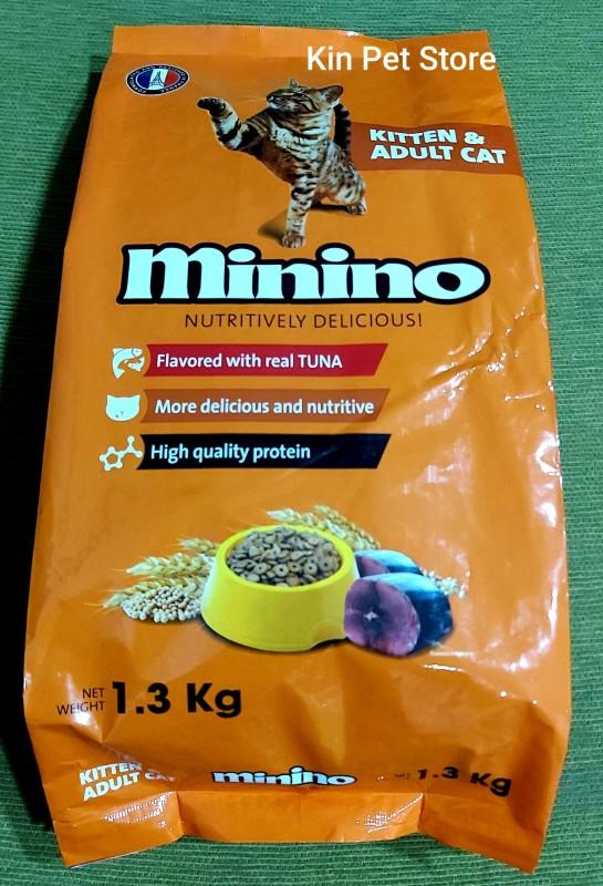 Thức Ăn Cho Mèo Minimo Phù Hợp Mọi Lứa Tuổi  Vị Cá Ngừ - Túi 1,3kg