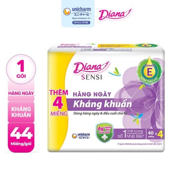 ( Khuyễn mãi 4 miếng ) Diana Hàng ngày Kháng Khuẩn - 40 miếng