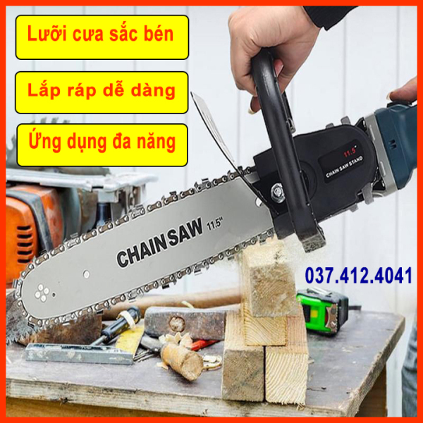 [  Loại 1 ] Lưỡi cưa xích -  Lưỡi lam xích - - Lưỡi cưa xích CHAINSAW - Có bình tra dầu tự động - 100% thép tinh luyện - Cưa cây, xẻ gỗ - Lưỡi cưa xích gắn máy mài