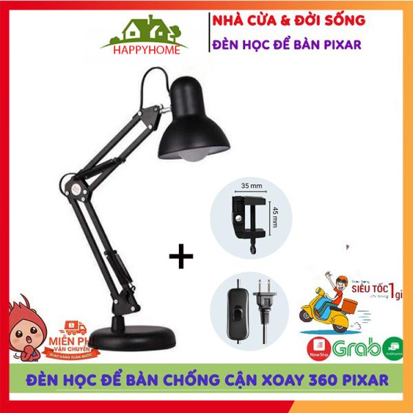 [ NEW 2021] Đèn Học Để Bàn Chống Cận Cho Bé Pixax, Đèn Bàn Học Sinh Xoay 360 Độ Tặng Kèm Đế, Kẹp, Đèn Bàn Làm Việc - Màu ngẫu nhiên Bảo Hành 3 Tháng