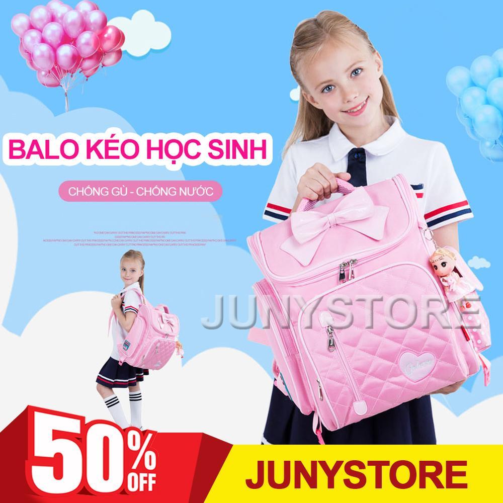 Giá bán Balo chống gù lưng học sinh Golove kèm búp bê xinh xắn cho bé gái từ 7-12 tuổi (Pink). BALO KÉO 6 bánh cho học sinh Golove có chức năng chống gù. Bảo hành uy tín bởi JUNYSTORE.