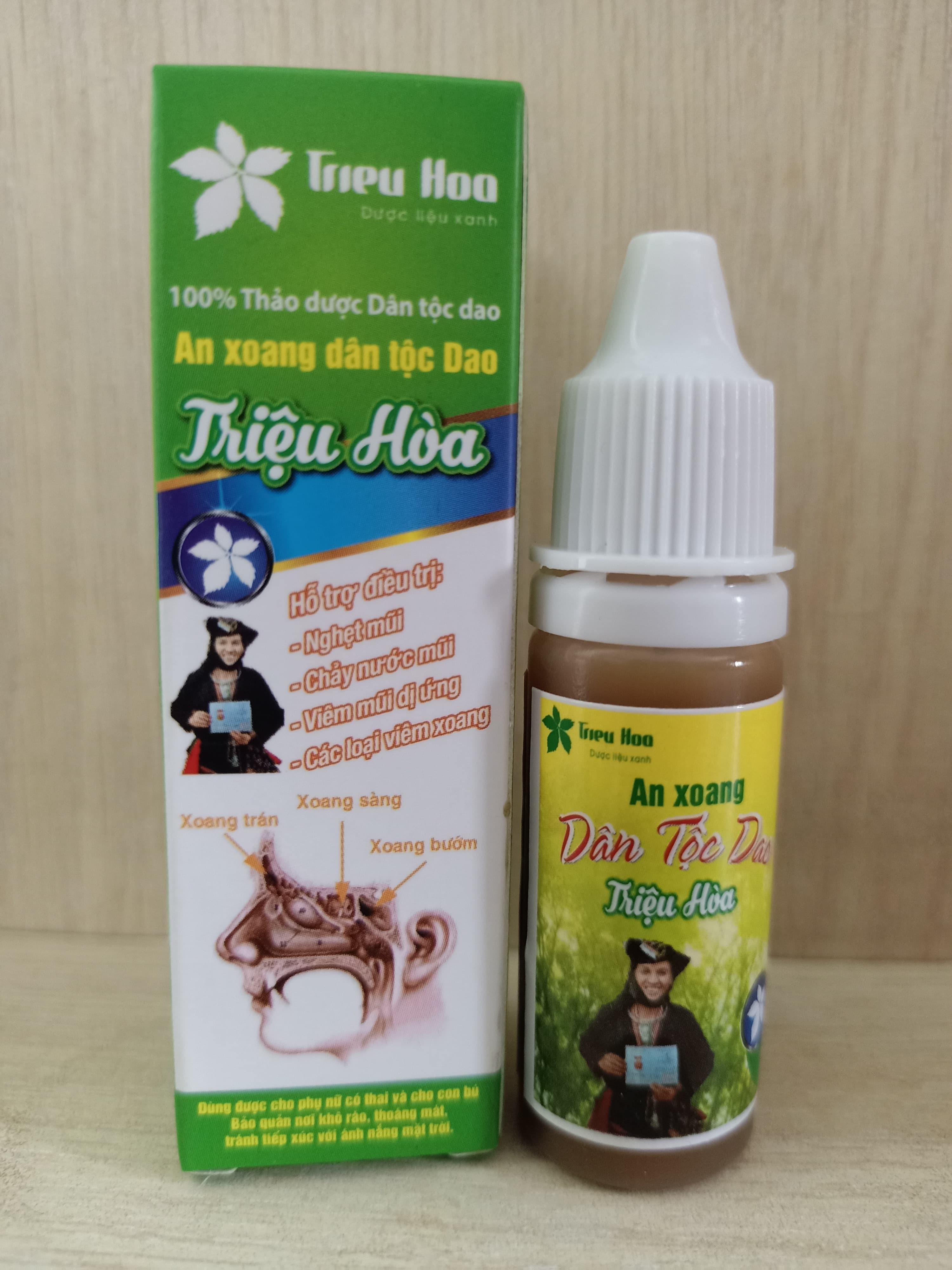 Thảo dược trị viêm xoang viêm mũi An xoang Triệu Hòa
