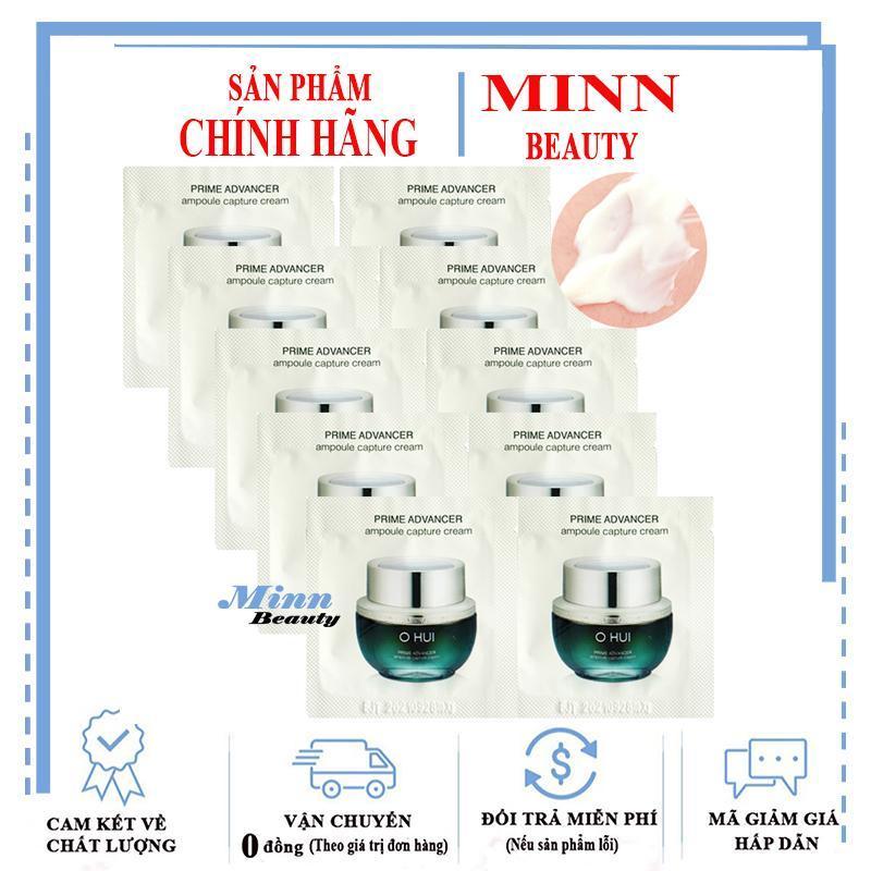 Combo 10 Kem Dưỡng Ngăn Ngừa Lão Hóa Xóa Mờ Nếp Nhăn Ohui Prime Advancer Ampoule Capture Cream 1MLX10