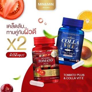 Combo Viên Uống Trắng Da Tomato Plus Và Colla Vit E Chính Hãng Thái Lan 60 viên thumbnail
