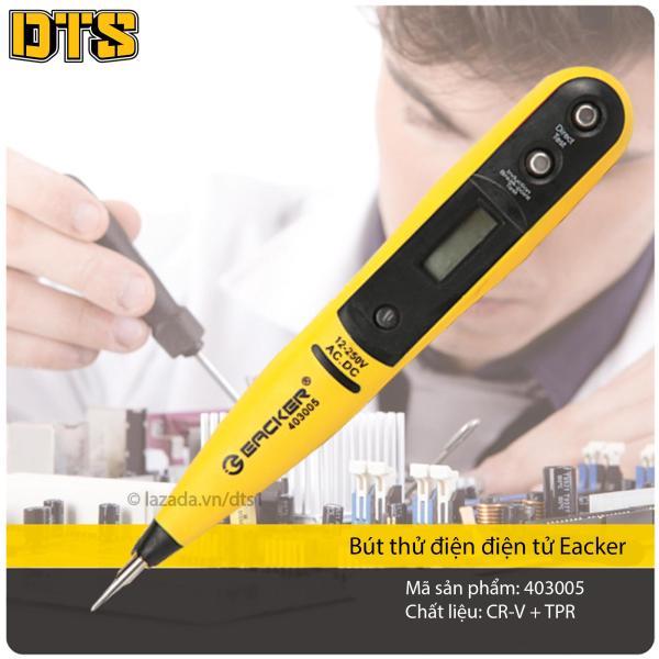 Bút thử điện điện tử hiển thị thông số LED Eacker - Không dùng pin