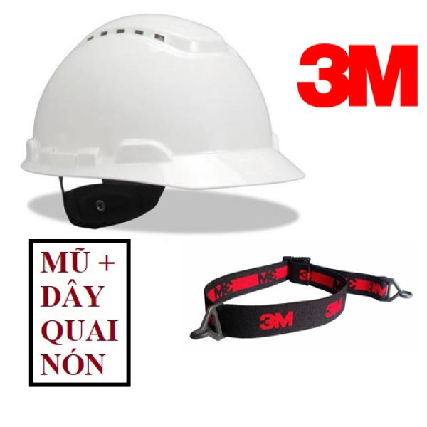 Nón bảo hộ lao động chính hãng 3M H701V - Mũ bảo hộ  nhựa HDPE siêu cứng (có lỗ thông khí)