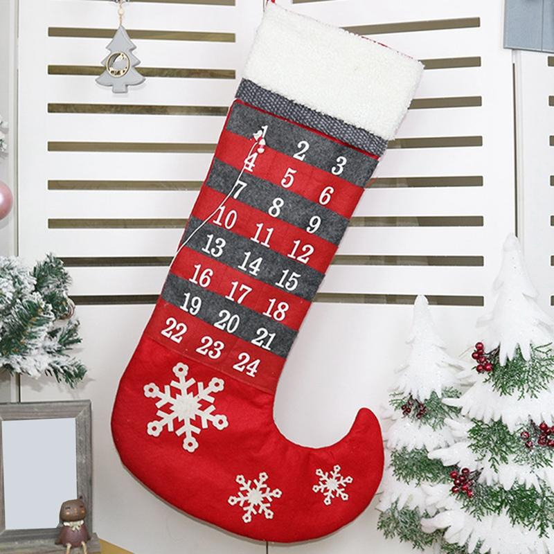 Mua 24 Day Newest Felt Christmas Tree Ornaments Advent Calendar Set Creative Sock Calendar Christmas Decor
