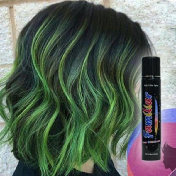 Keo xịt tóc màu Familiar 100ml - Màu H1 xanh lá cao cấp