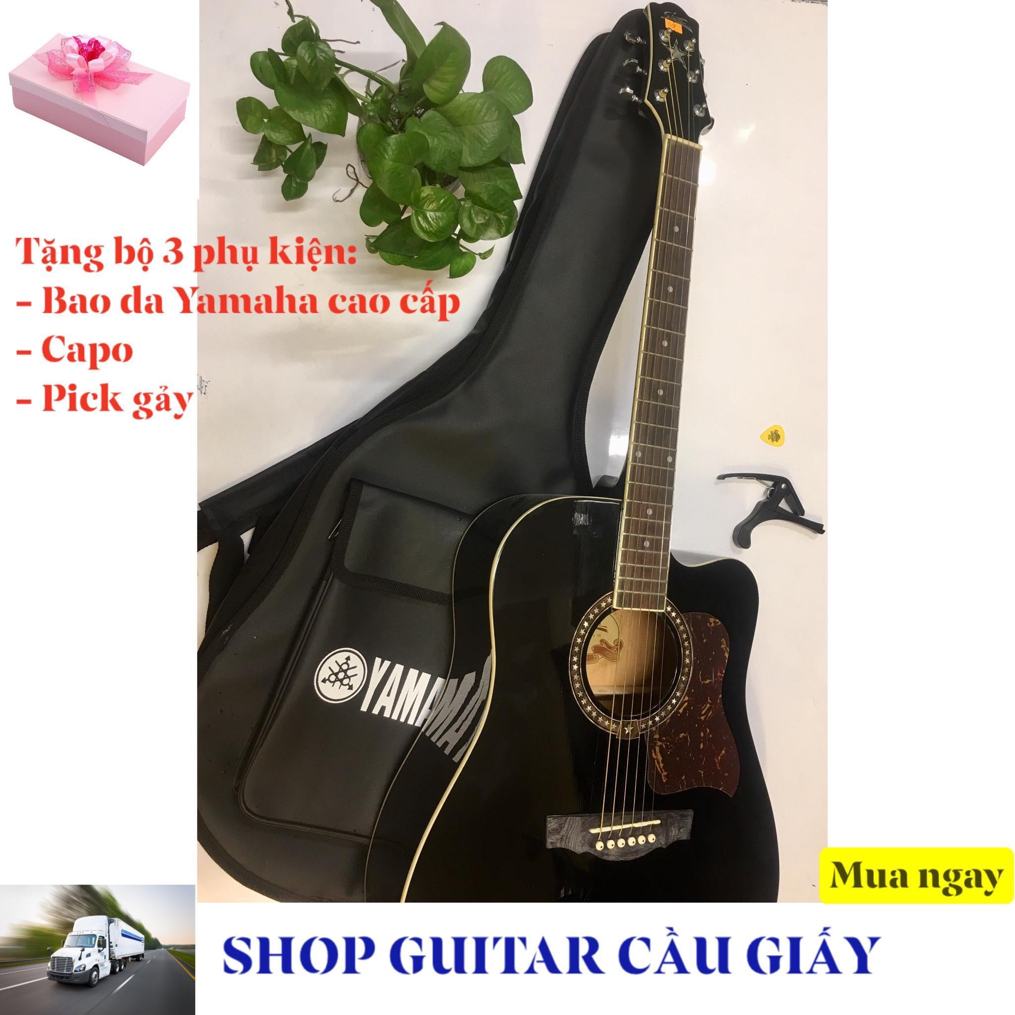 Đàn Guitar Starsun đen + Tặng bộ 3 phụ kiện