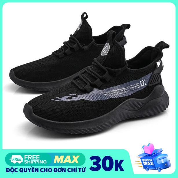 Giày sneaker nam MĐ G554 phản quang, phối màu trắng đen cá tính giá rẻ