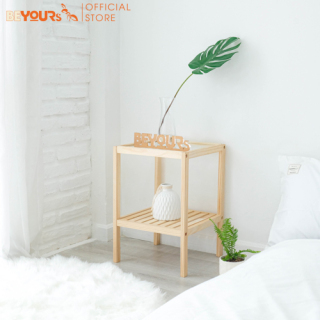Kệ đầu giường gỗ đa năng mặt kính cường lực BEYOURs Glass Shelf nội thất kiểu hàn lắp ráp thumbnail