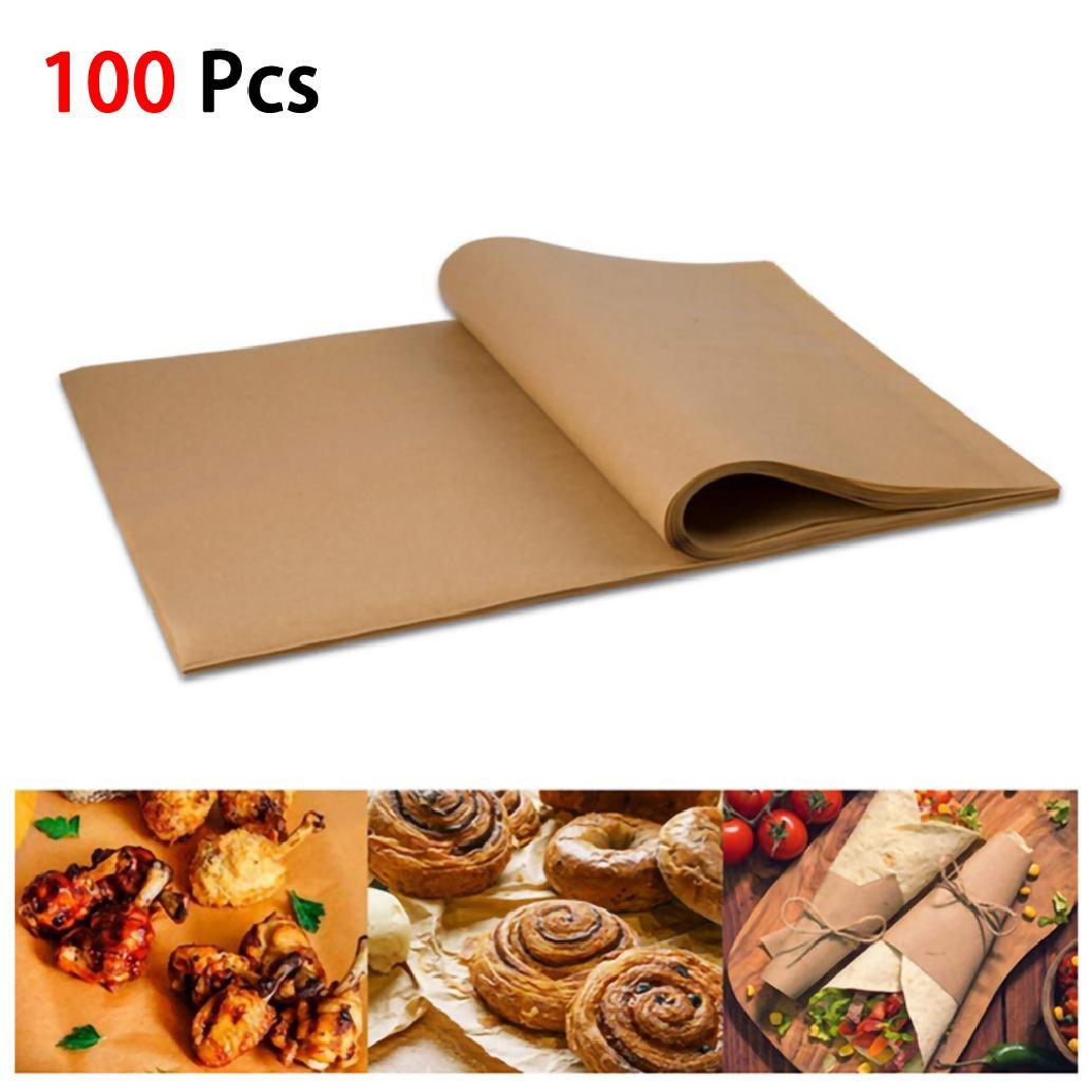 100 Cái Baking Silicone Oil Non stick Steamer Pot Pad Giấy da Hình chữ nhật Bánh Pan Liners Baking Paper Cake Pans (30 x 40CM) 【Shop Vouchers】