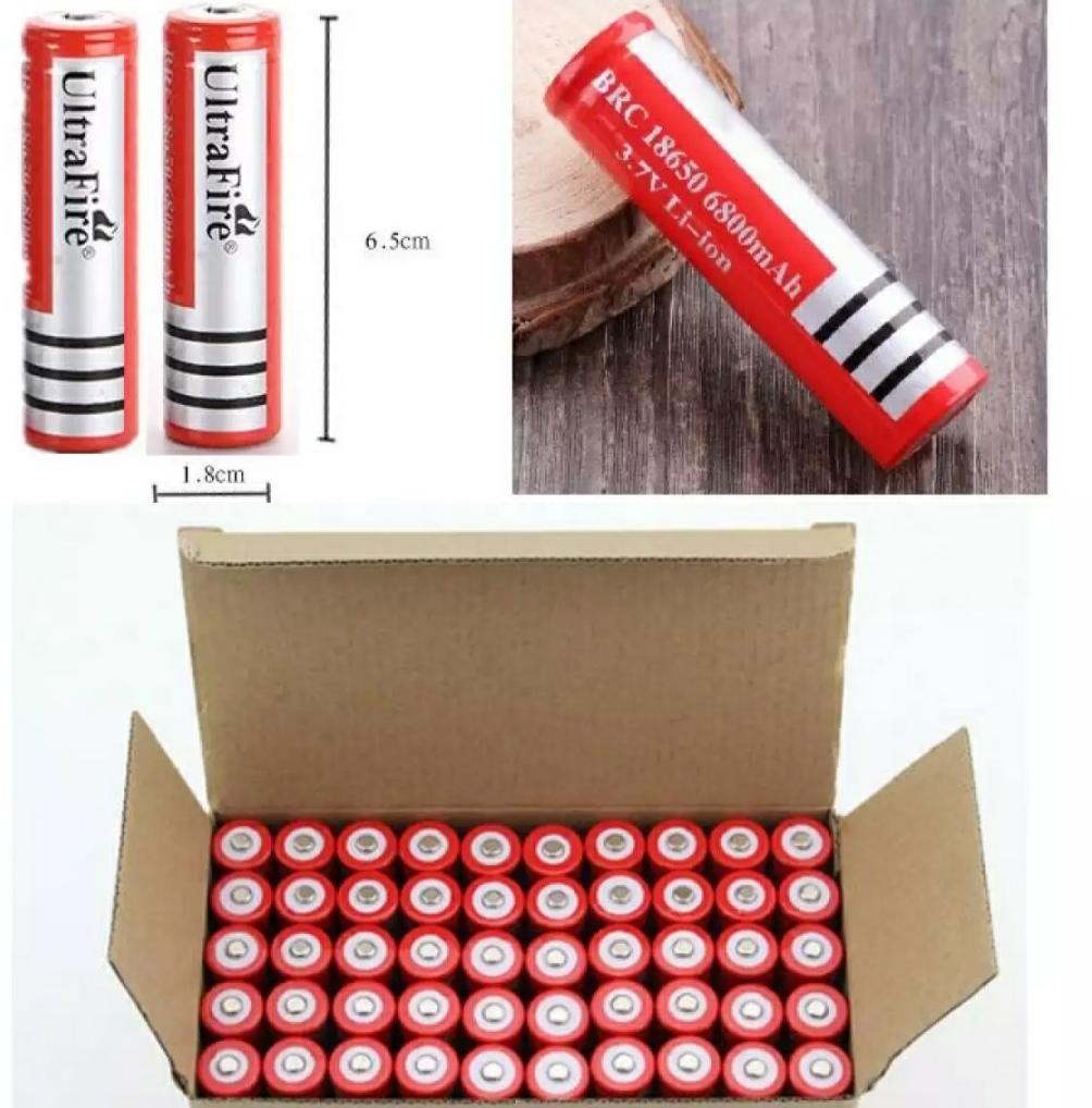 Giá Bộ 10 pin sạc 18650 UltraFire 6800mAh 3,7V