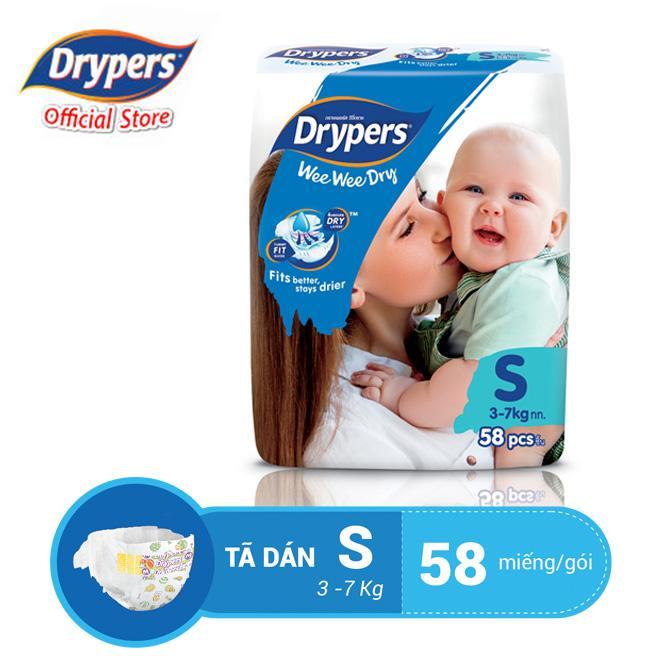 Deal Khuyến Mại Tã Dán Drypers Wee Wee Dry S 58P