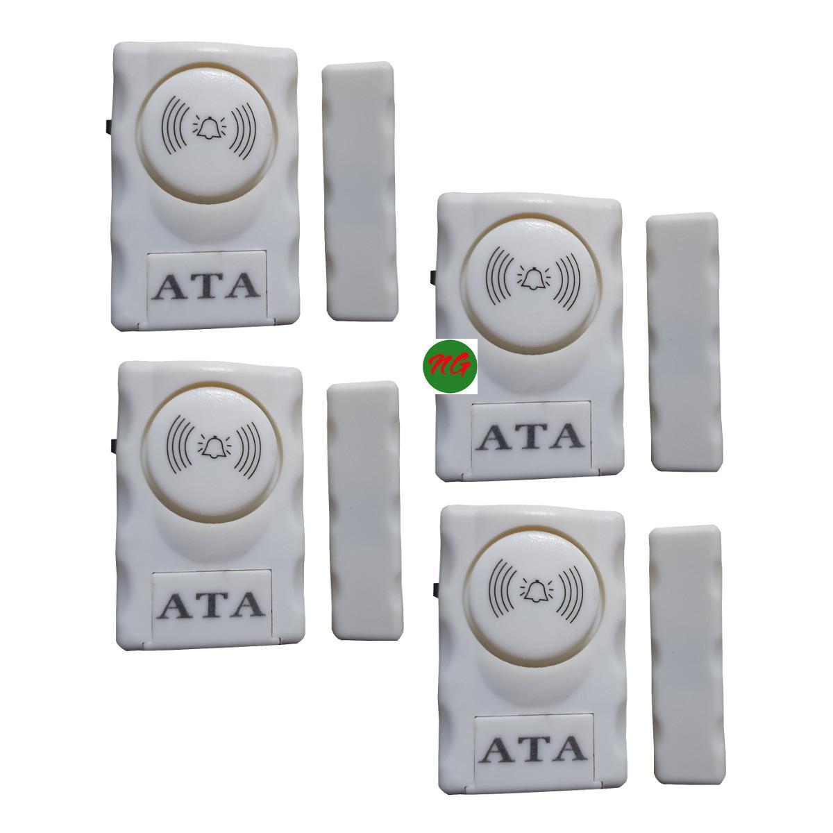 Bộ 4 chuông cửa từ báo động chống trộm ATA 007 tiếng hú lớn dán ở cửa lớn cửa sồ cửa tủ chống trộm hiệu quả