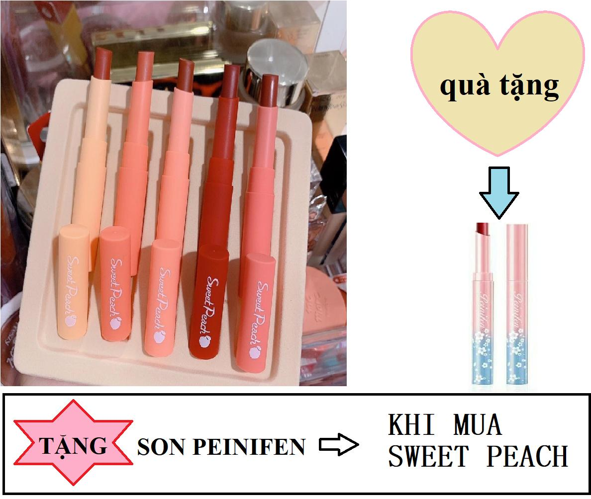 Set 5 son Sweet Peach siêu mịn siêu xinh nhập khẩu