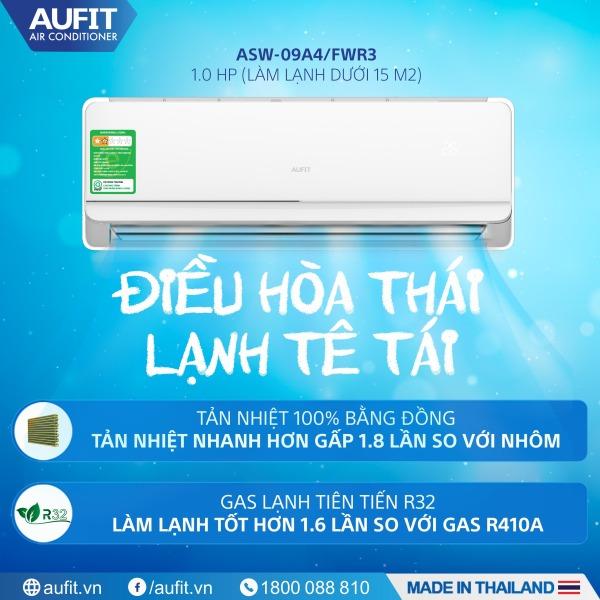 Bảng giá Điều hòa | Máy lạnh chính hãng - nhập khẩu Thái Lan AUFIT - Series Freedom 1.0 HP (ASW-09A4/FWR3) Điện máy Pico