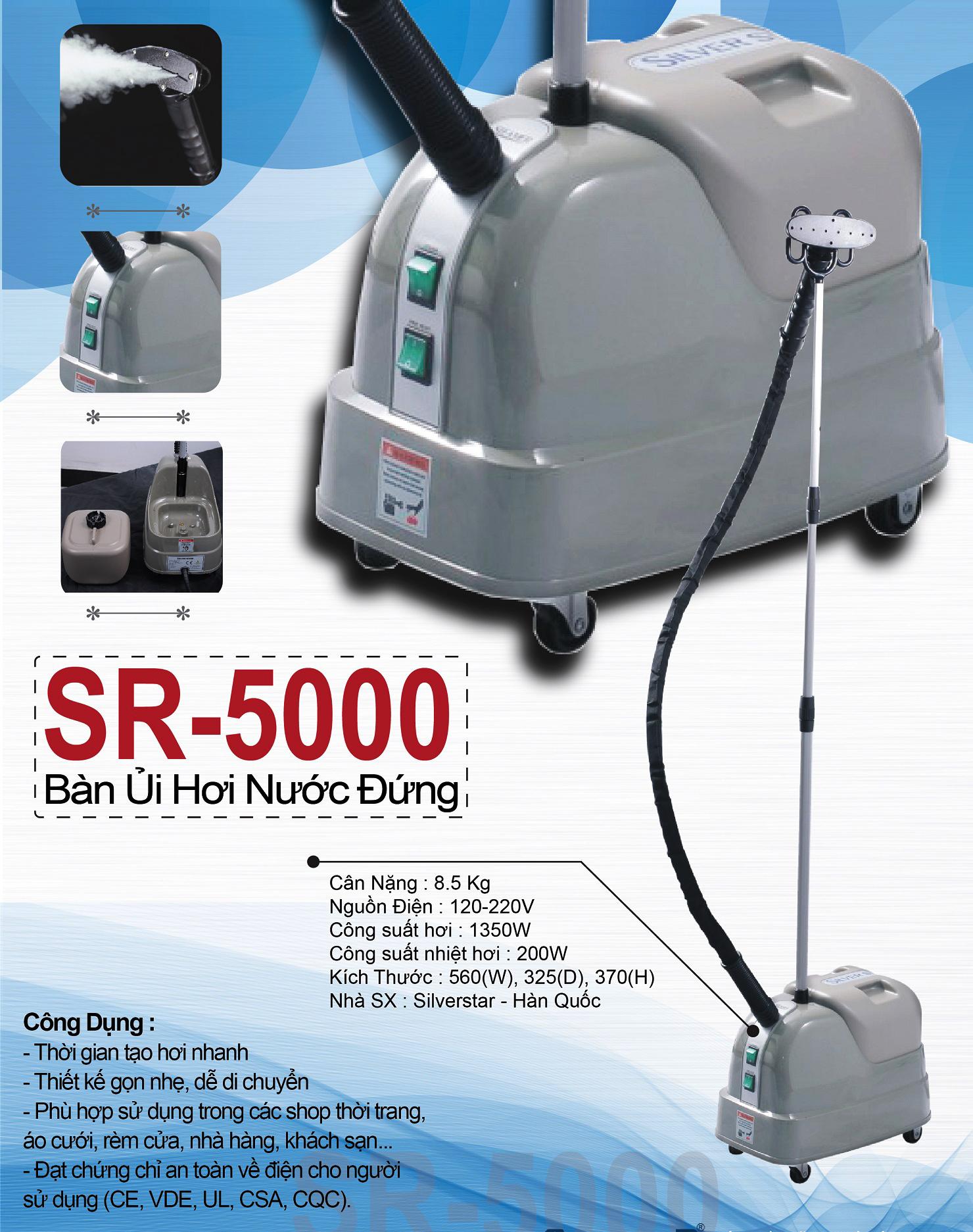 Bàn ủi hơi nước đứng công nghiệp SR-5000 Silver Star