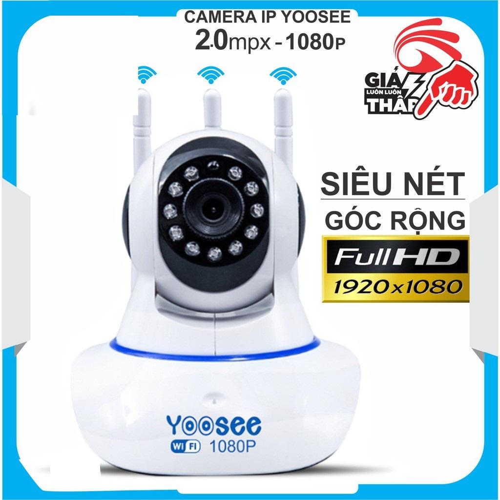 Camera IP Wifi Yoosee 3 Râu độ phân giải FULL HD 2.0MP 1080p Không Dây,Camera trong nhà,Camera hồng ngoại tích hợp ghi âm,lưu trữ dữ liệu
