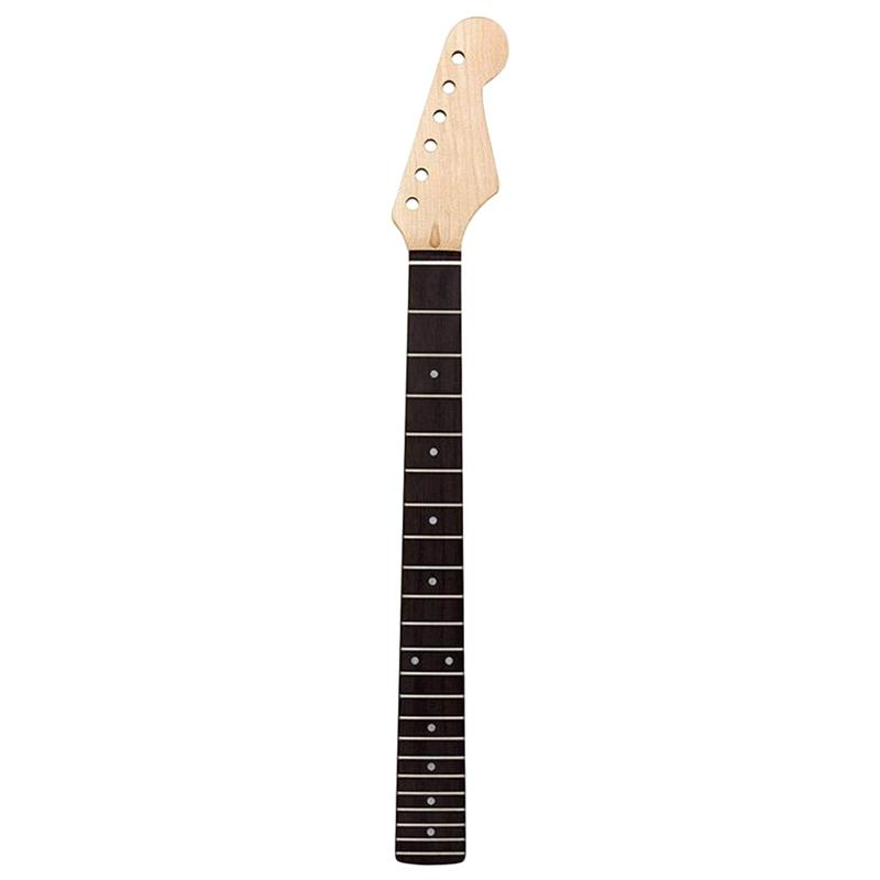 Electric Guitar Neck Fretboard 22 Fret Guitar Neck Replacement White Abalone Mark Dot Inlay for Fender Guitar