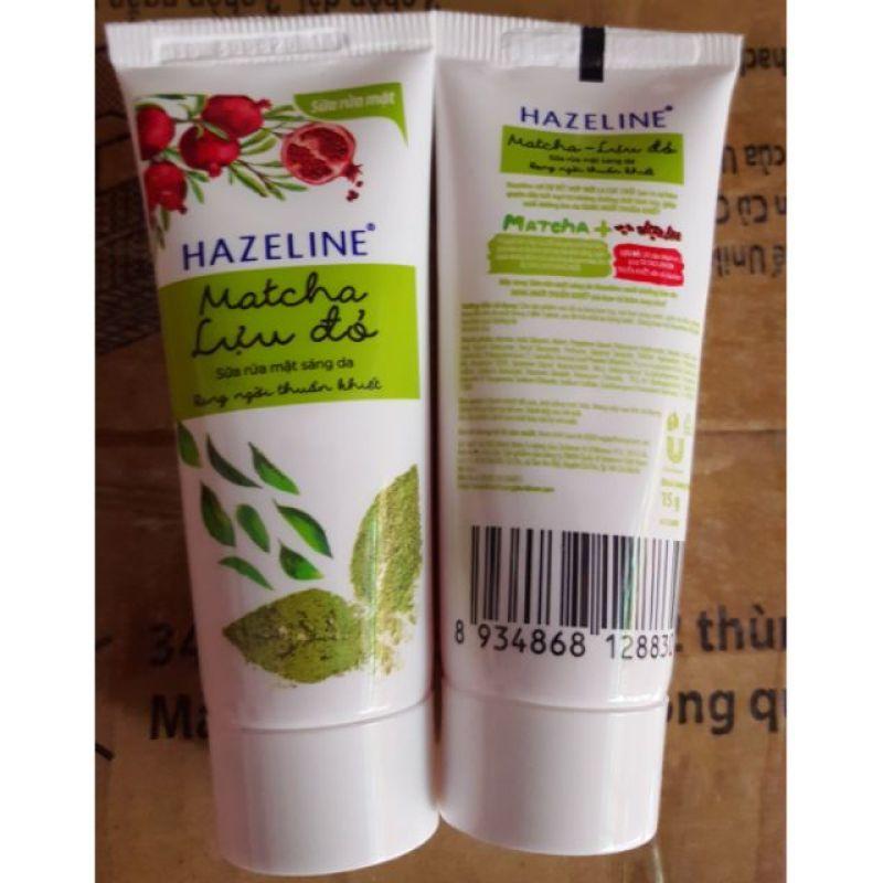 Sữa rửa mặt Hazeline tuýp 15g(Matcha)