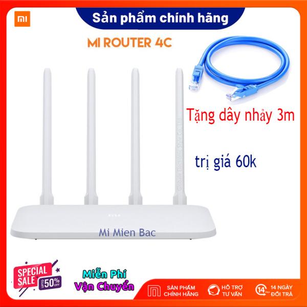 [BỘ PHÁT WIFI QUỐC DÂN] Xiaomi Router R4CM, Bộ Phát Wifi, Modem WiFi Xiaomi 4C 4 Râu 4 anten siêu khỏe, Tốc độ tới 300 Mbps, 64 thiết bị cùng kết nối, Bảo hành 1 năm - Mới 100% Nguyên seal – Tặng dây nhảy 3m trị giá 60k-Mi Miền Bắc