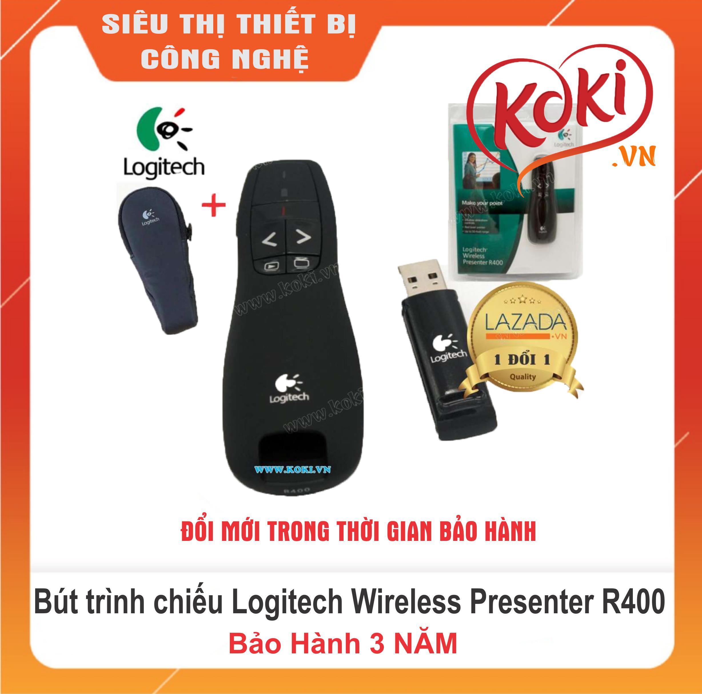 Bút Trình Chiếu Logitech Wireless Presenter R400, Tặng Kèm Bao Da Cao Cấp By Công Ty Công Nghệ Minh Phát.