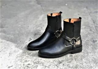Giày nam Harness Boots kiểu Dáng đường Phố Cao Cấp Đế Cao Su . thumbnail